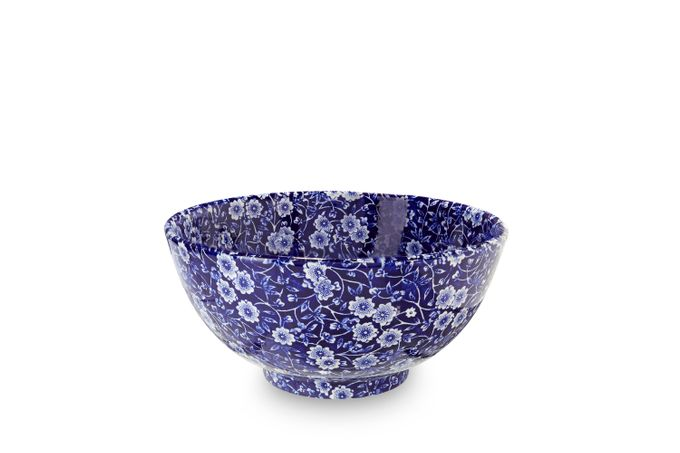 Burleigh Blue Calico Medium Footed Bowl