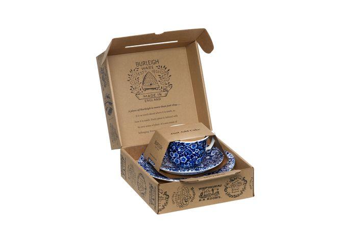 Burleigh Blue Calico Teacup Gift Set