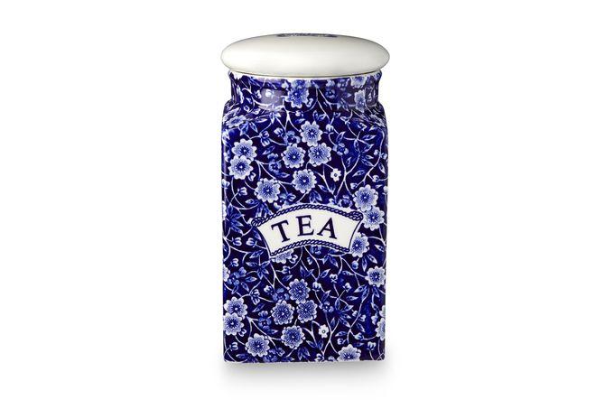 Burleigh Blue Calico Storage Jar + Lid Tea, White Lid