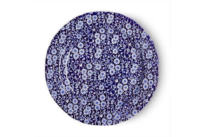 "Burleigh Blue Calico Dinner Plate 10 3/8"""