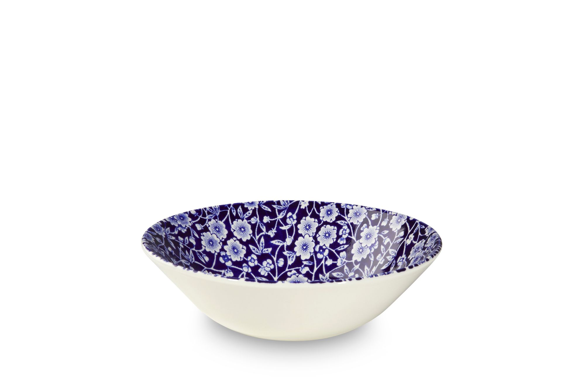 "Burleigh Blue Calico Oatmeal / Cereal / Soup 6 1/4"" thumb 1"