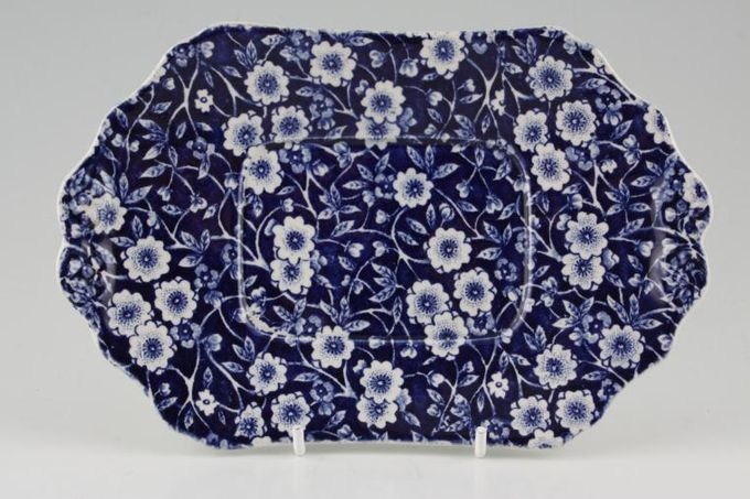 Burleigh Blue Calico Sauce Boat Stand