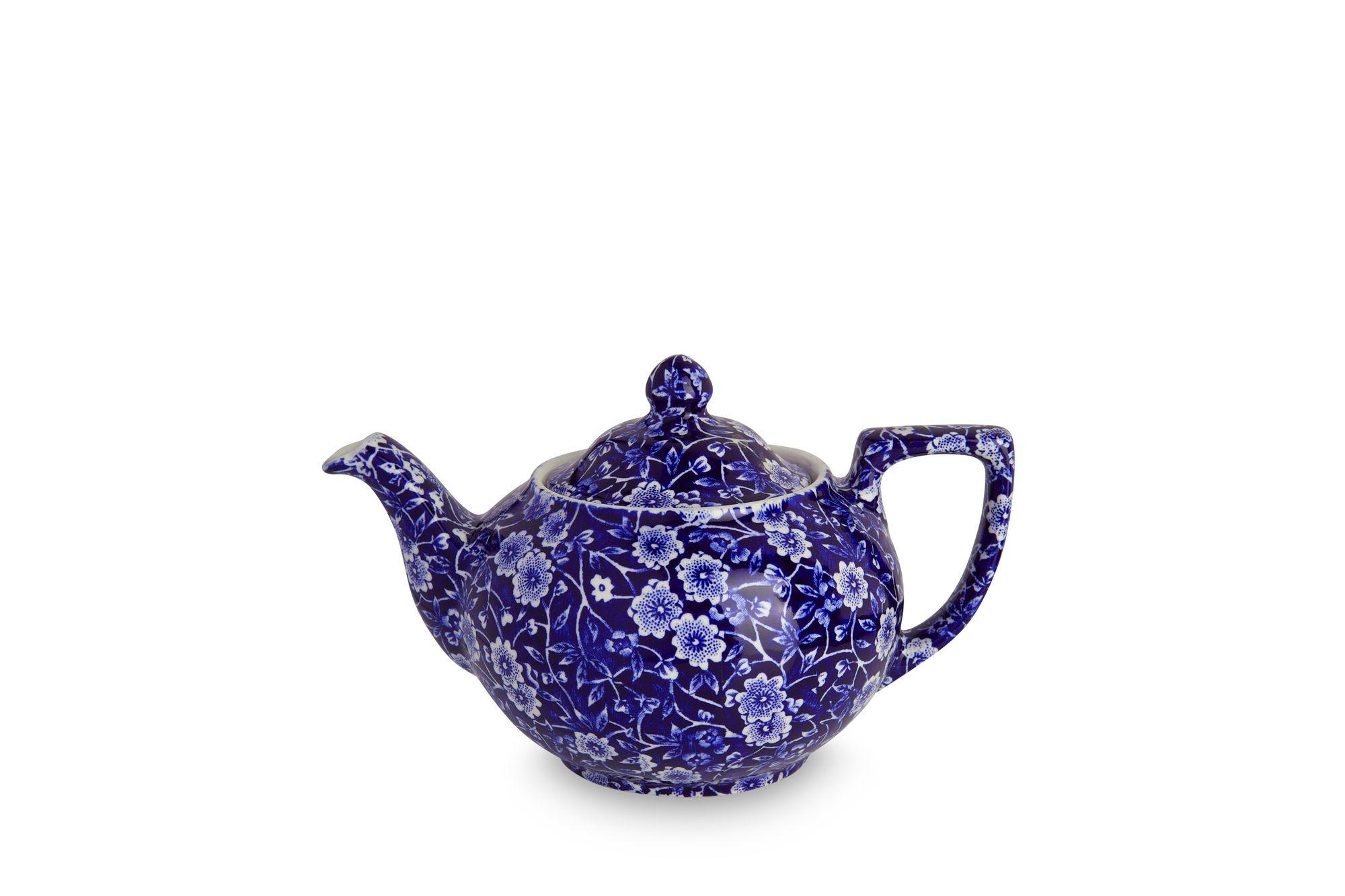 Burleigh Blue Calico Teapot 1pt thumb 1