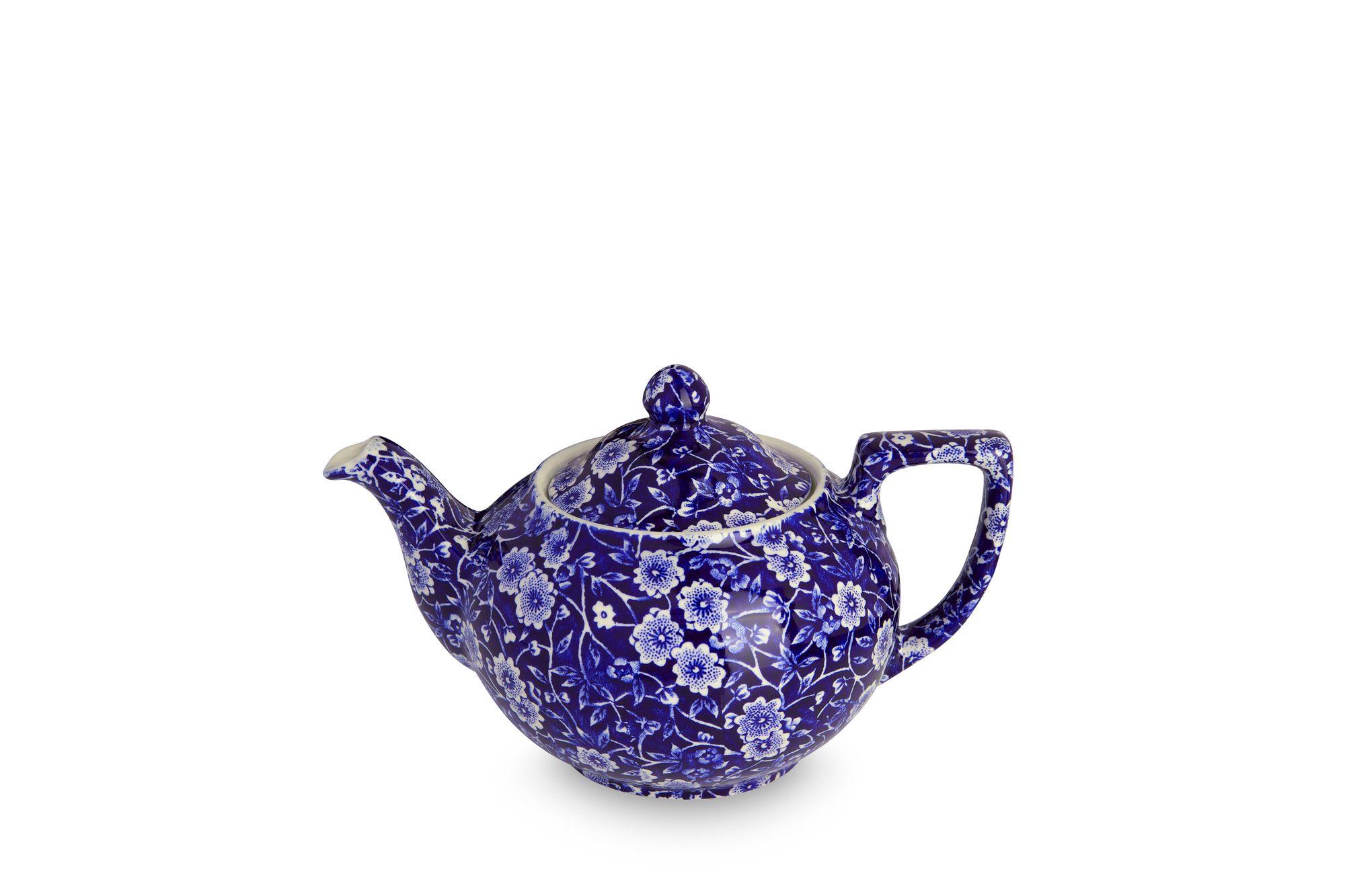 Burleigh Blue Calico Teapot 1pt thumb 2