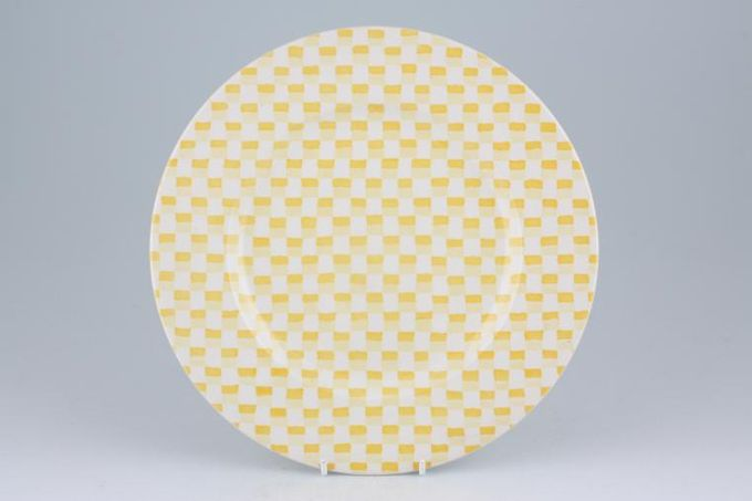 """Burleigh Chequers Dinner Plate Yellow 10"""""""