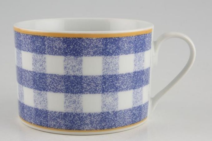TTC Gingham Juniper - Topchoice Teacup 3 3/8 x 2 3/8""