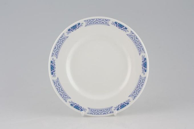 """Tuscan + Royal Tuscan Mandarin - Plain Edge Gravy Jug Stand Round, Rim Pattern Only 7"""""""