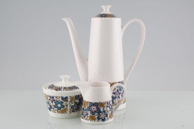 Tuscan + Royal Tuscan Nocturne Coffee Pot, Cream and Sugar Bowl Set