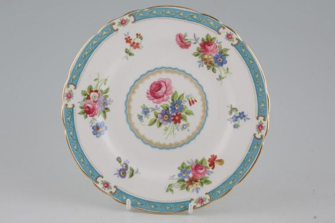 """Tuscan + Royal Tuscan Lowestoft - turquoise Tea / Side / Bread & Butter Plate 7"""""""