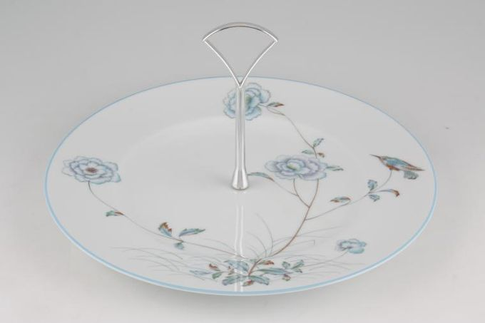 """Vintage China Cake Plates & Stands Cake Stand 196 - 1 tier Noritake 'Spring Breeze' 10 1/2"""" plate"""