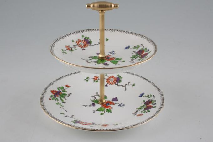 """Vintage China Cake Plates & Stands Mini Cake Stand 6M - approx. height 6 1/2"""" 7"""""""