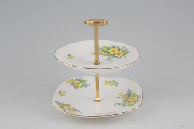 "Vintage China Cake Plates & Stands Mini Cake Stand 31M - approx. height 6"" 6"""