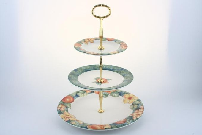 "Vintage China Cake Plates & Stands Cake Stand 7 - M&S 'Millbrook' Approx.10.5"".8"", 6""."