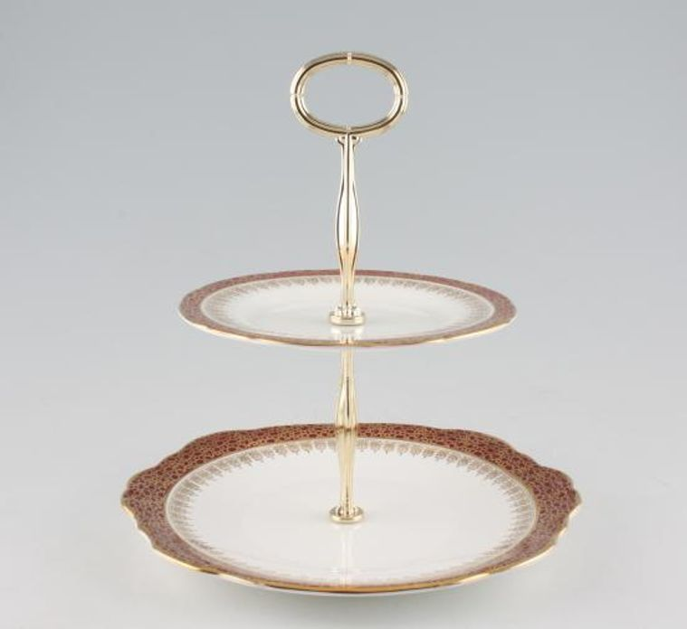 Various - Cake Stands - Cake Stand - 98 - 2 Tier Duchess - Winchester 9 1/4