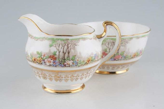 Vintage China Vintage Tea Milk Jug + Sugar Bowl V35