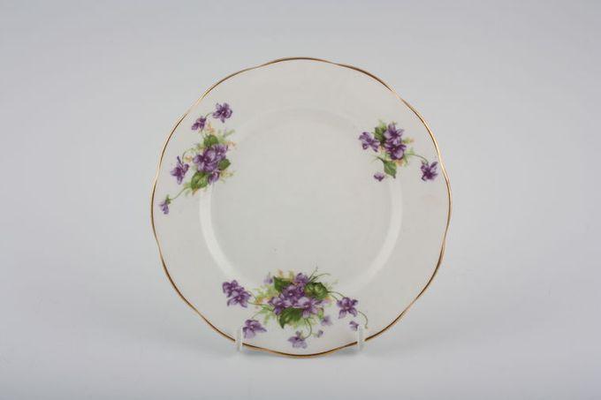 """Vintage China Vintage Tea Set of Tea Plates V570 - Set of 4 tea plates 6 1/2"""""""
