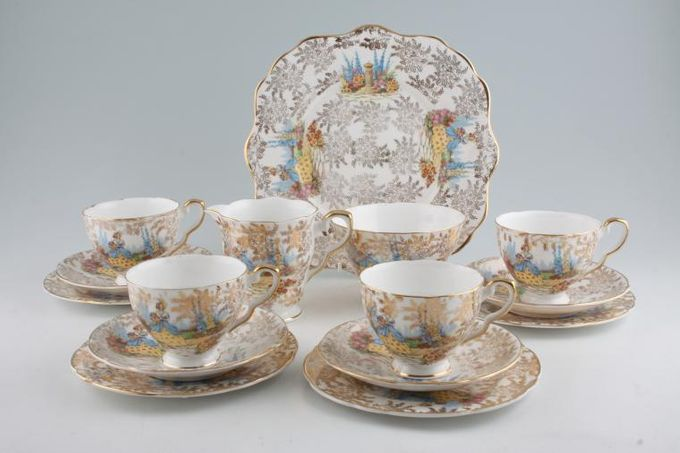 Vintage China Vintage Tea Tea Set V30 Vintage Tea Set for 4 with bread and butter plate