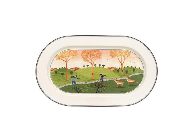 """Villeroy & Boch Design Naif Oval Platter 15 1/2"""""""