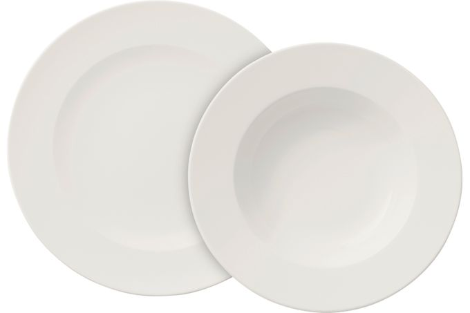 Villeroy & Boch For Me 8 Piece Set Dinner Set - 4 Flat Plates, 4 Deep Plates