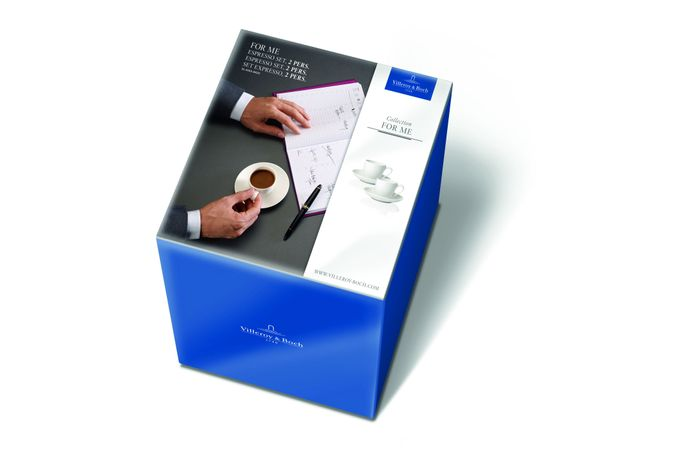 Villeroy & Boch For Me 4 Piece Set Espresso Set - For Two, 4 Pieces - 2 Espresso Cups & Saucers