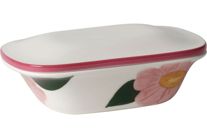 Villeroy & Boch Rose Sauvage Butter Dish + Lid