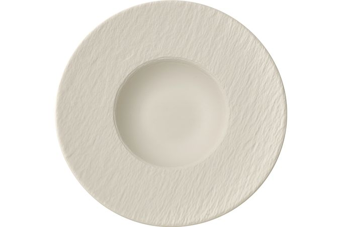 Villeroy & Boch Manufacture Rock Blanc Rimmed Bowl Pasta Plate 28cm