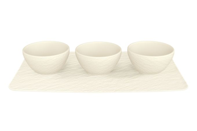 Villeroy & Boch Manufacture Rock Blanc Dip Bowl Set 4pcs