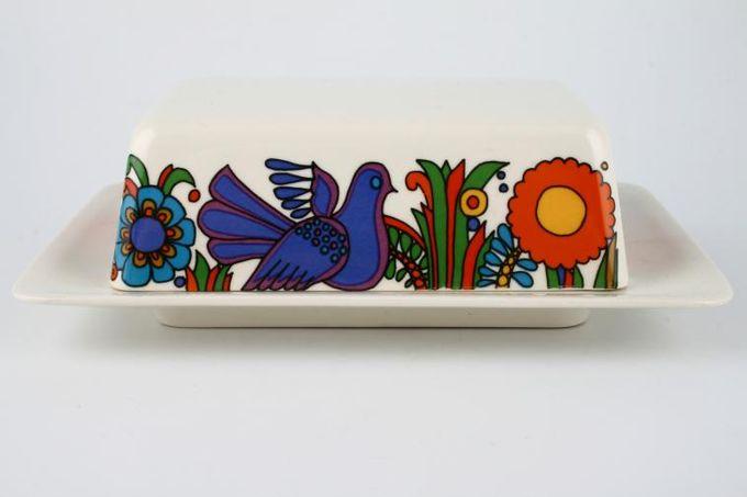 Villeroy & Boch Acapulco Butter Dish + Lid pattern lid, plain base