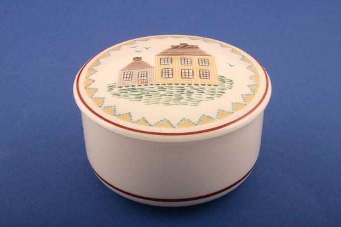 "Villeroy & Boch American Sampler Candy box Round - House Design 3"""
