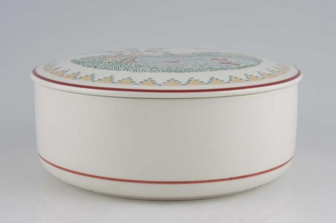 """Villeroy & Boch American Sampler Candy box First Impressions 1981. 5 3/4"""""""