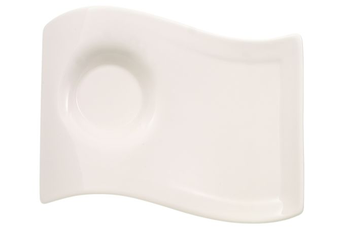 Villeroy & Boch New Wave Caffe Plate Small Party Plate (matches Espresso Cup) 17 x 13cm