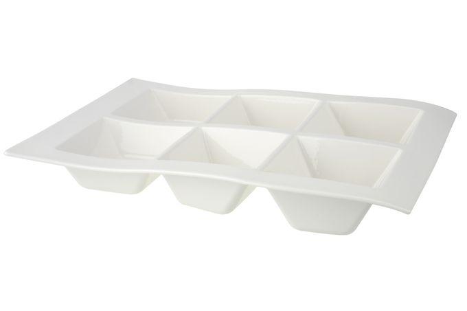 Villeroy & Boch New Wave Platter 6 compartments 41 x 30cm