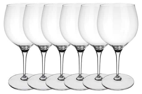 Villeroy & Boch Maxima Goblet - Set of 6 Set of 6 Burgundy Goblet 22.5cm
