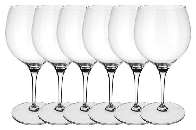 Villeroy & Boch Maxima Set of 6 Red Wine Glasses Burgundy 790ml