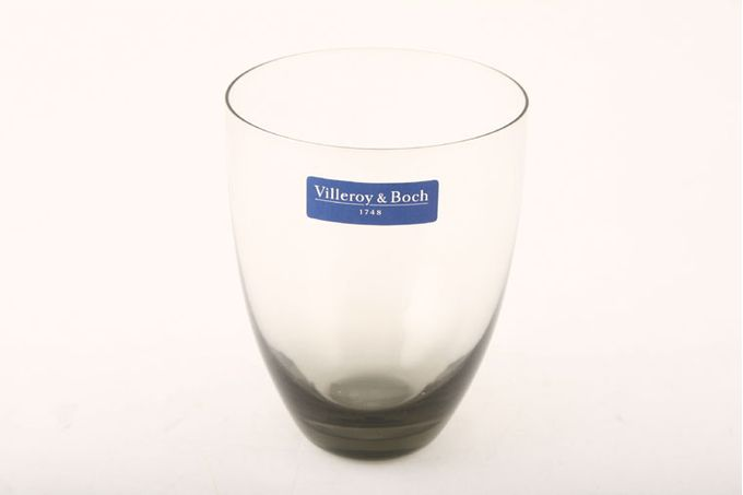 "Villeroy & Boch Mankai Tumbler - Medium Light Smoke tinted glass 3 1/4 x 4 1/4"""