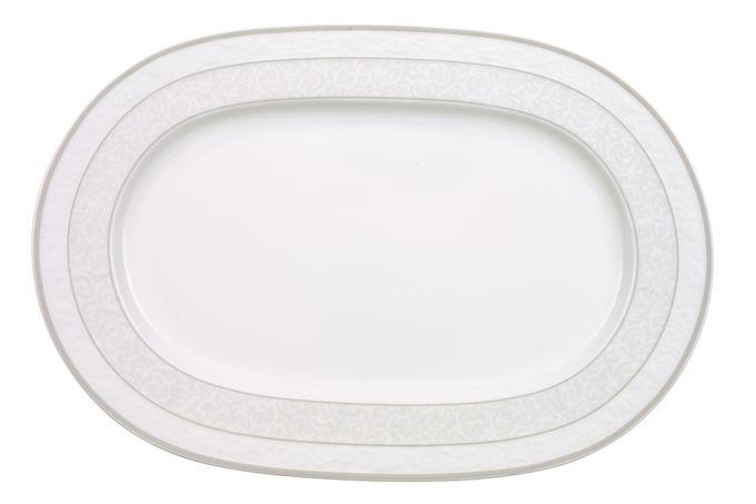 Villeroy & Boch Gray Pearl Oval Plate / Platter 35cm