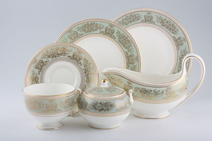 Wedgwood Columbia - Sage Green and Gold