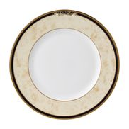 "Wedgwood - Cornucopia - Tea / Side / Bread & Butter Plate - 7"" - Beige with blue rim"