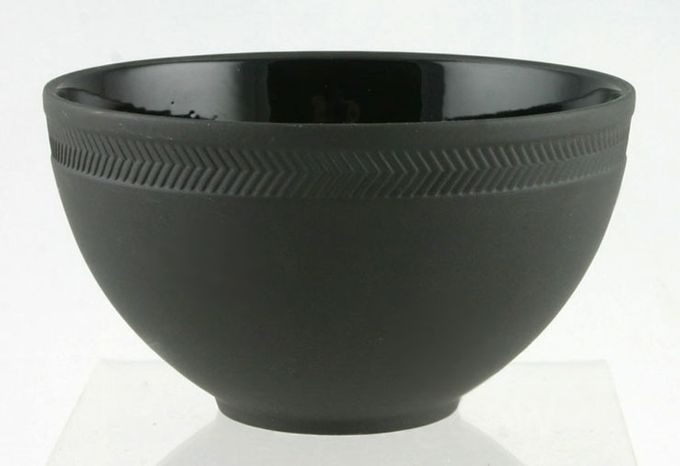Wedgwood Night And Day Bowl Herringbone - Black Jasper 4 1/4""