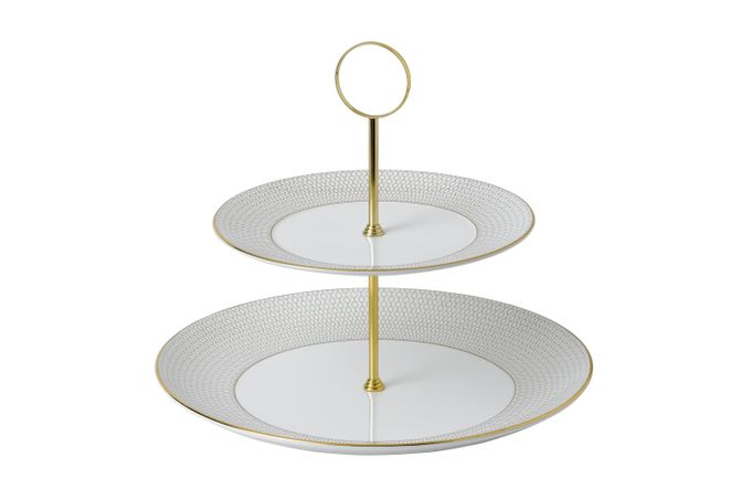 Wedgwood Arris 2 Tier Cake Stand