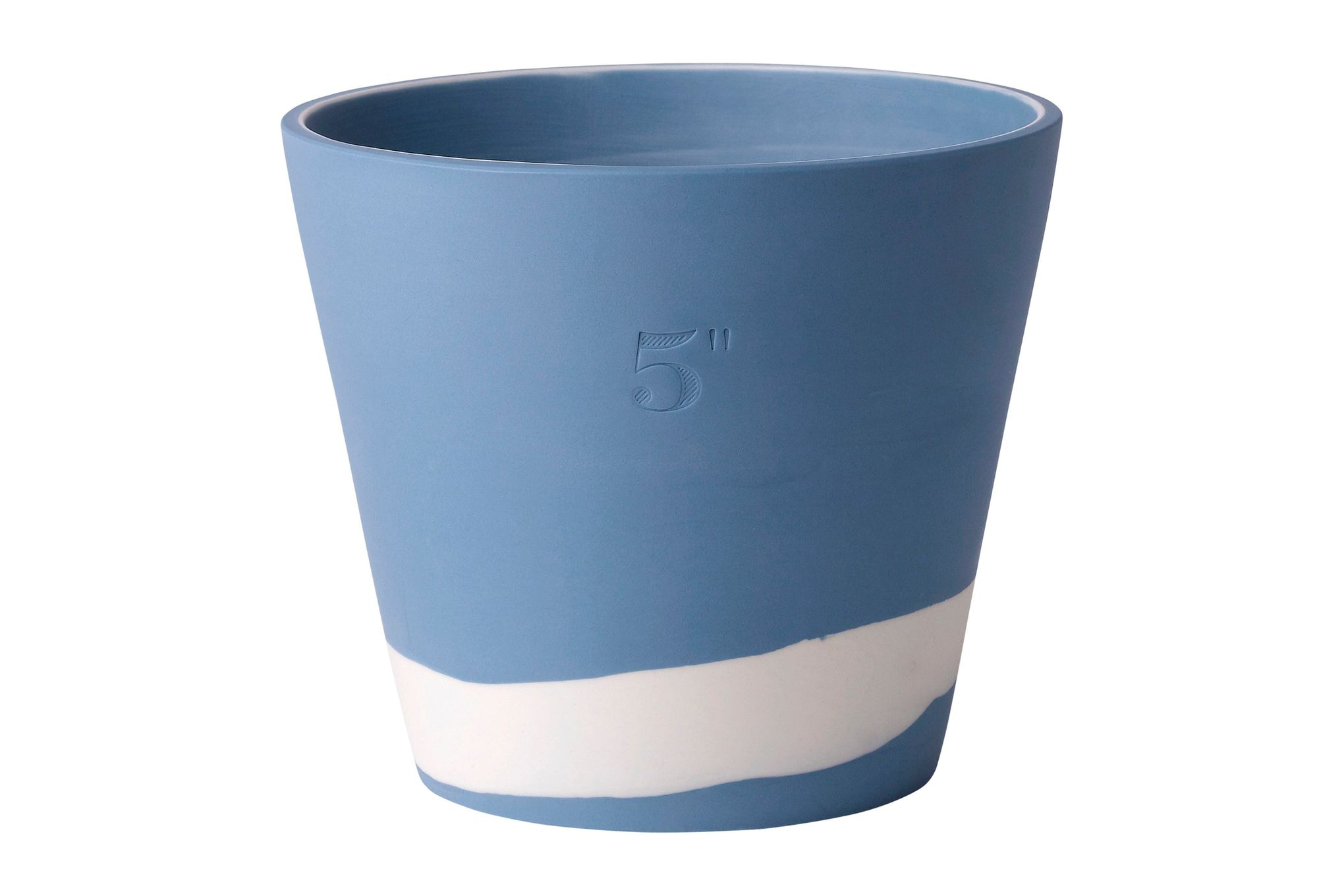 "Wedgwood Burlington Pots Planter Blue 5"" thumb 1"