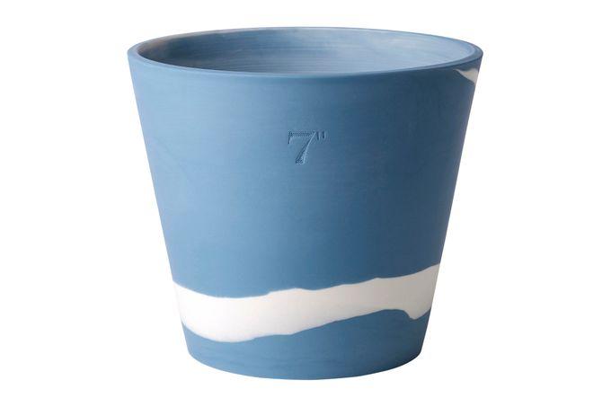 """Wedgwood Burlington Pots Planter Blue 7"""""""