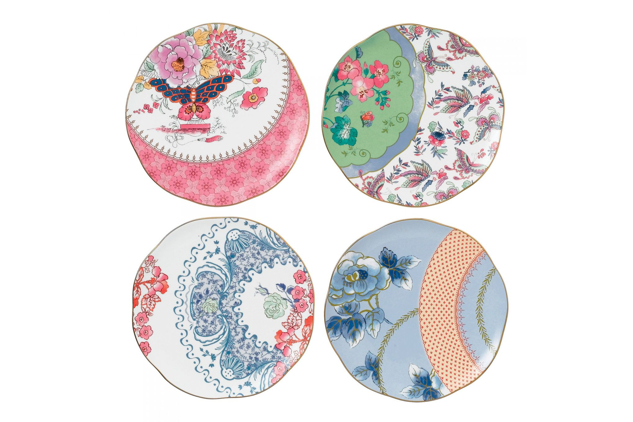 Wedgwood Butterfly Bloom Set of 4 Plates 20cm thumb 1