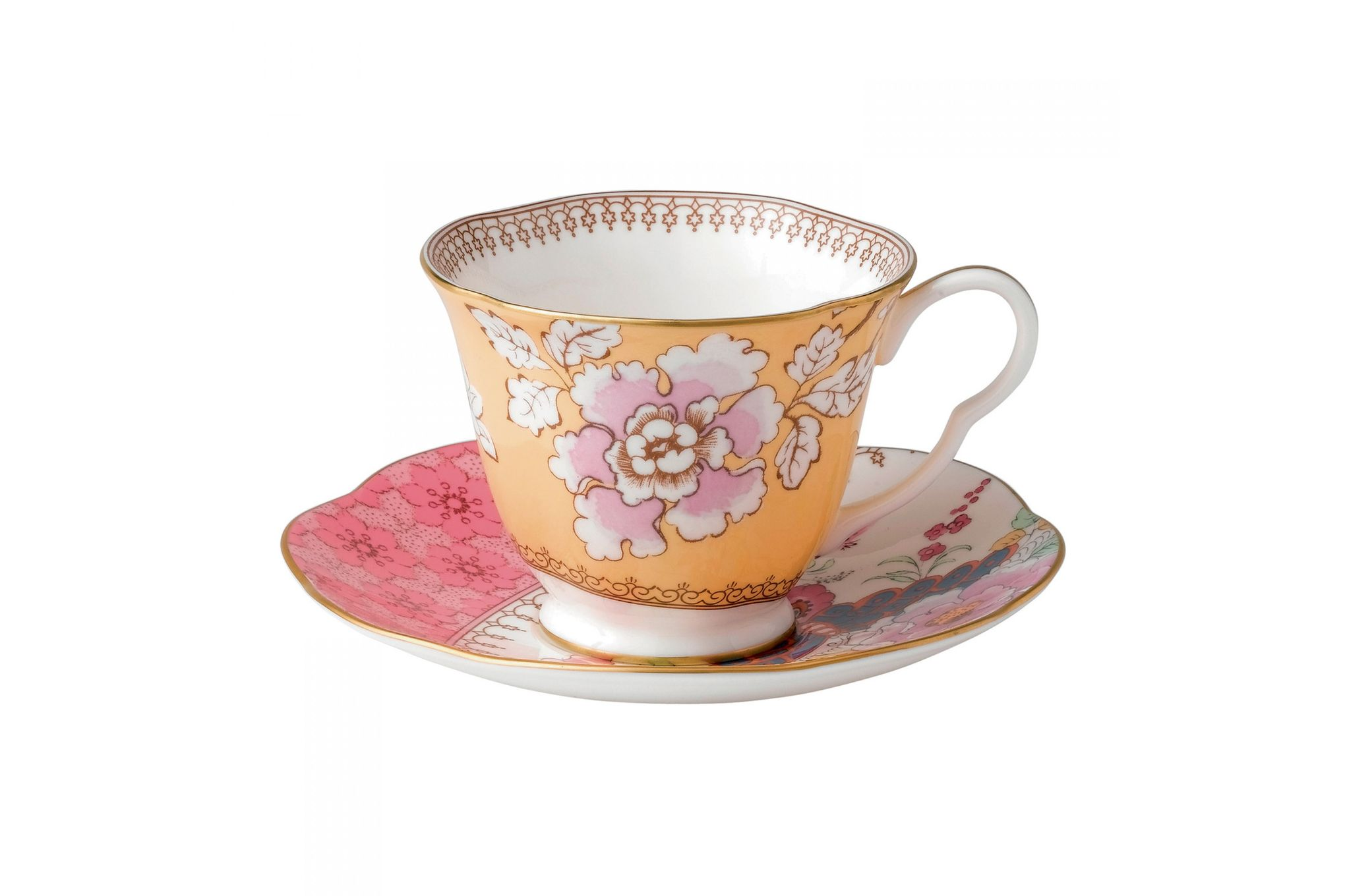 Wedgwood Butterfly Bloom Teacup & Saucer Yellow thumb 1
