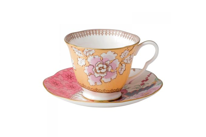 Wedgwood Butterfly Bloom Teacup & Saucer Yellow