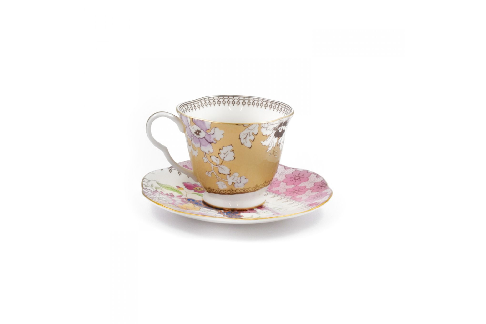 Wedgwood Butterfly Bloom Teacup & Saucer Yellow thumb 2