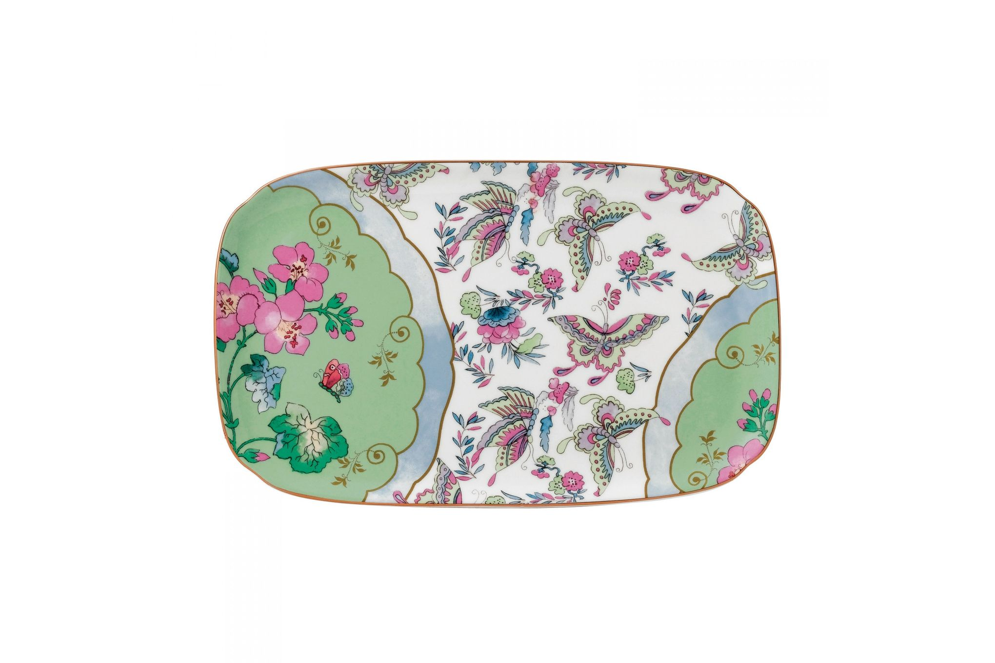 Wedgwood Butterfly Bloom Sandwich Tray Blue Peony thumb 1