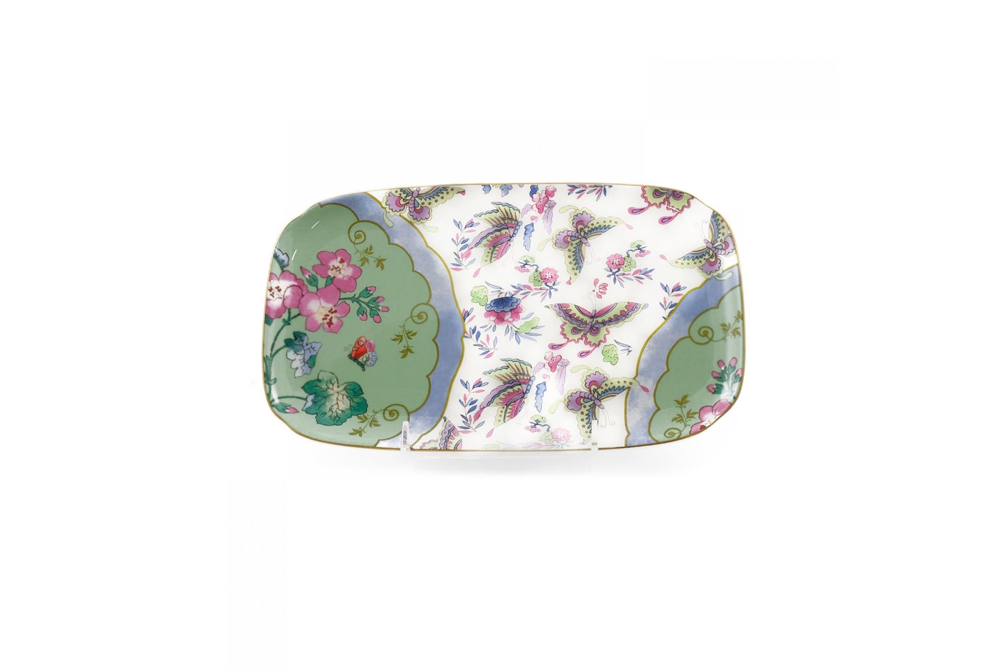 Wedgwood Butterfly Bloom Sandwich Tray Blue Peony thumb 2
