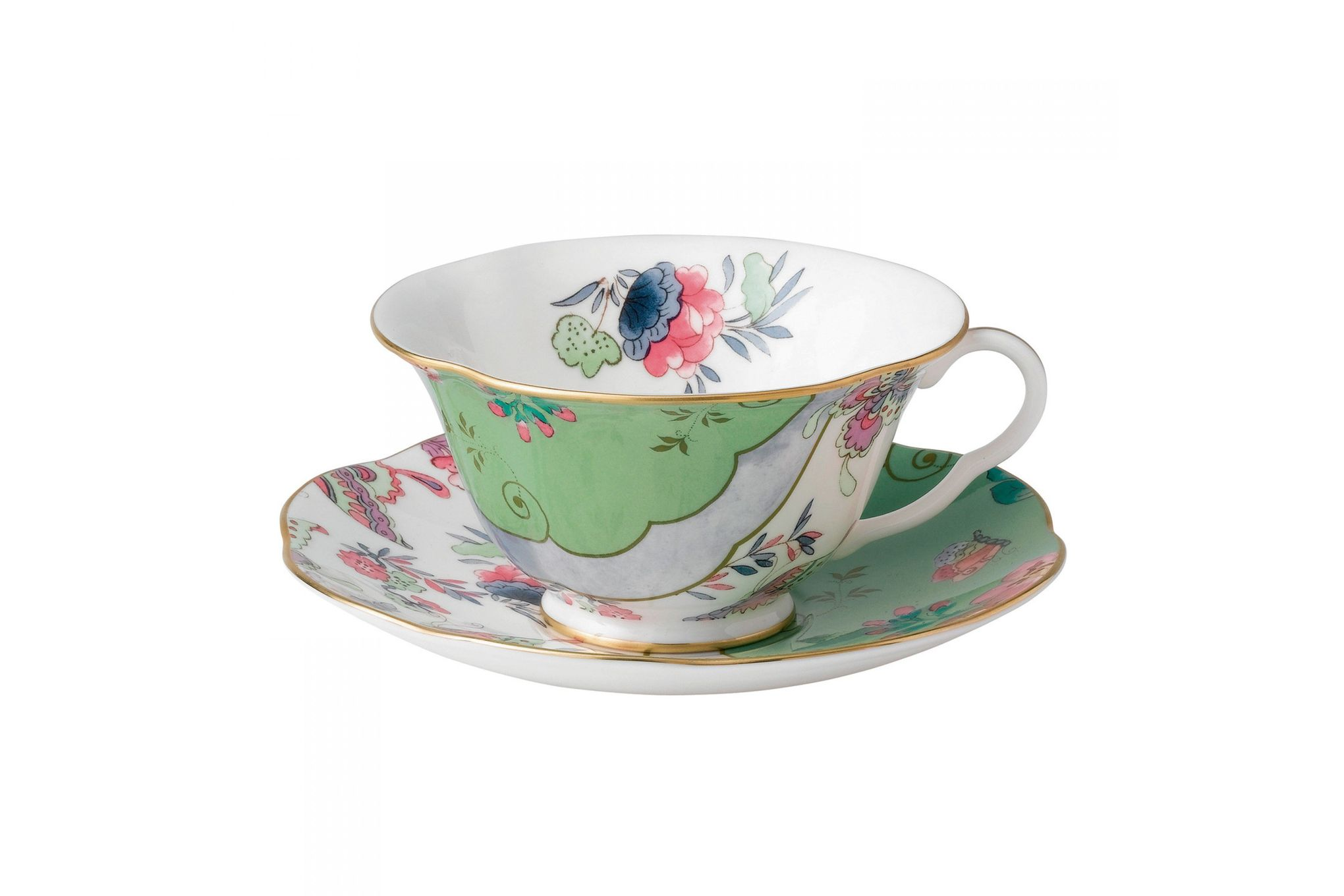 Wedgwood Butterfly Bloom Teacup & Saucer Green thumb 1