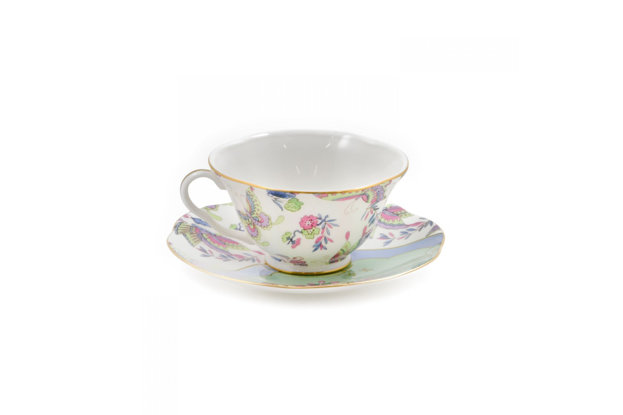 Wedgwood Butterfly Bloom Teacup & Saucer Green thumb 2